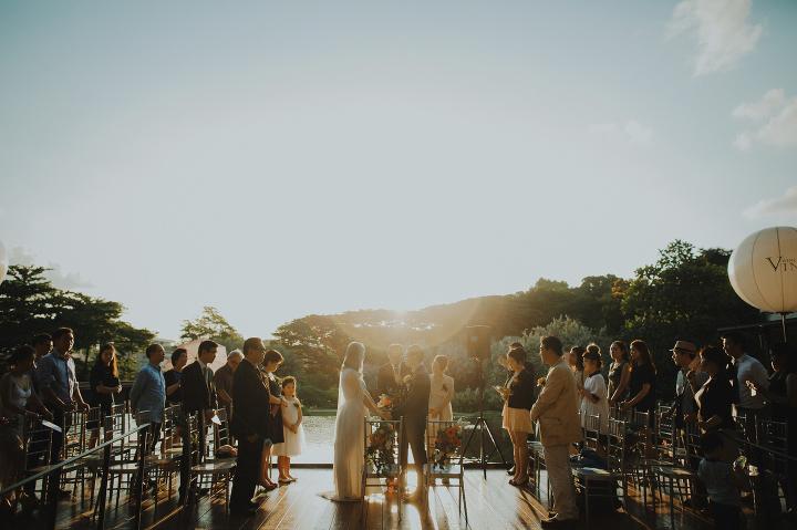 Vineyard Hort Park Wedding ceremony