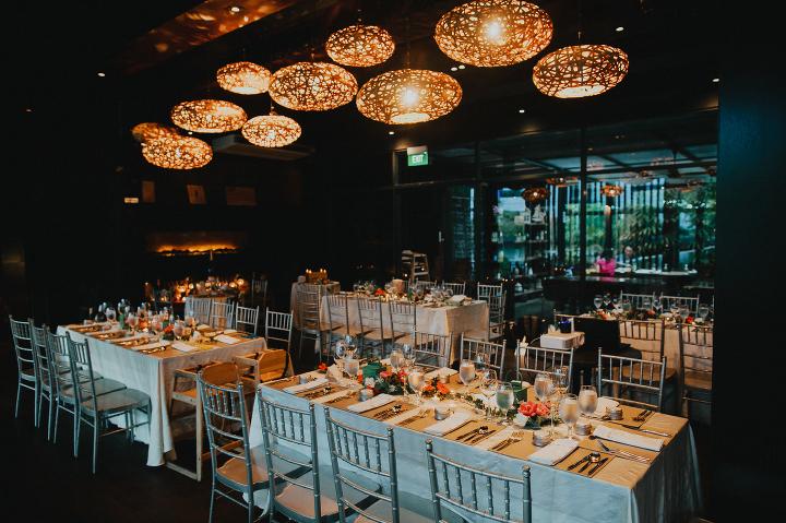 Vineyard Hortpark dinner wedding venue
