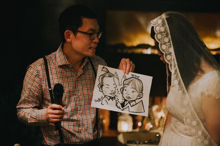 Caricature wedding drawings