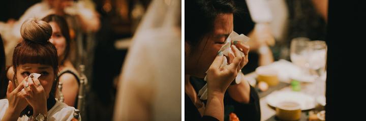 Wedding guest crying touching speech
