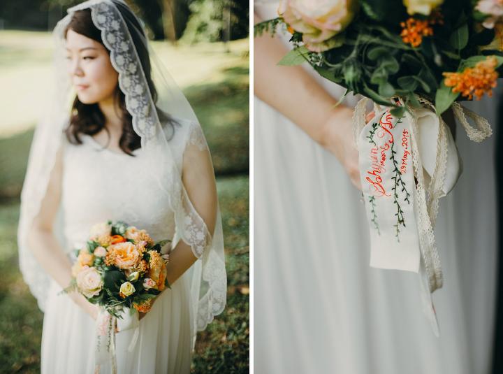 Bride portraits Hort Park